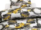 Påslakanset Dumper gul/grå 150x210