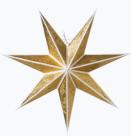 Adventsstjärna Kristall slim gold 60 cm